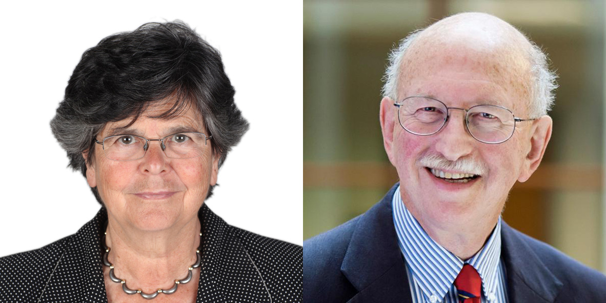 Prize winners Ruth Dreifuss and prof. Peter Reuter